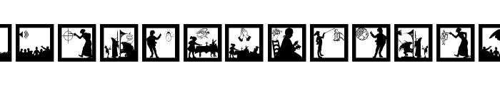 SomeSilhouettesPlus Font UPPERCASE