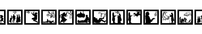 SomeSilhouettesPlus Font LOWERCASE