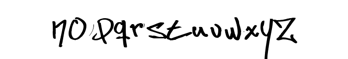 Some's Style Straight out of Sweden Font LOWERCASE
