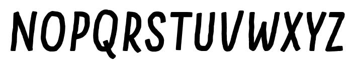 Something Looks Natural Italic Font UPPERCASE