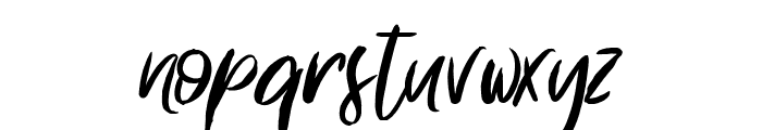 Something in the Night Font LOWERCASE