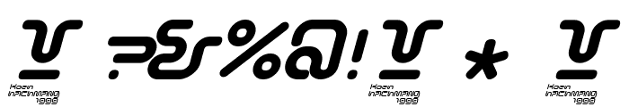 Sonic-Empire-Italic Font OTHER CHARS