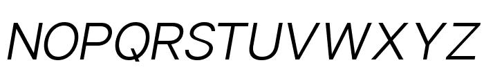 Sonika PERSONAL USE Light Italic Font UPPERCASE