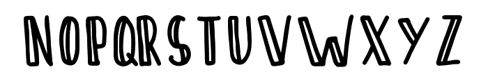 SontOyoloDemoRegular Font LOWERCASE