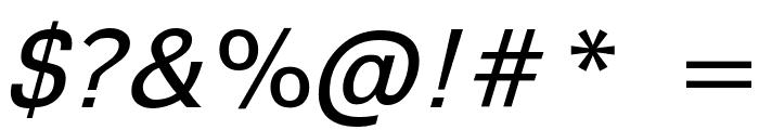 Sophia Nubian Italic Font OTHER CHARS