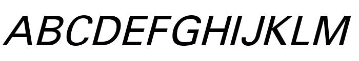 Sophia Nubian Italic Font UPPERCASE