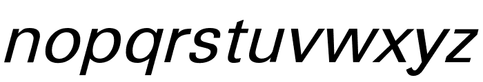 Sophia Nubian Italic Font LOWERCASE