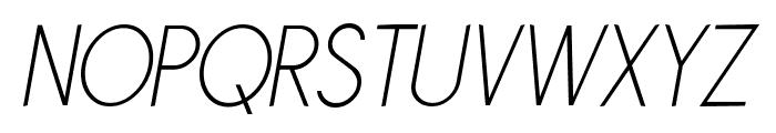 Sornette Light Italique Font UPPERCASE