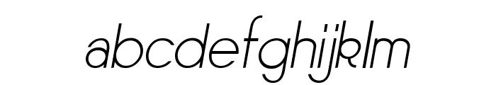 Sornette Light Italique Font LOWERCASE