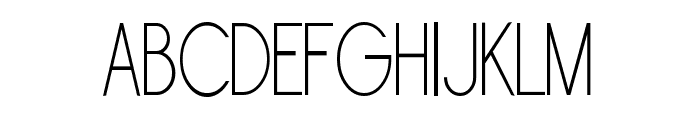 Sornette Light Narrow Font UPPERCASE