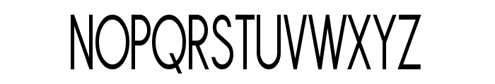 Sornette Regular Condensed Font UPPERCASE