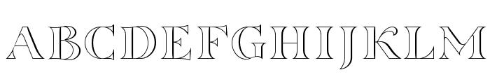 Sortefax Font UPPERCASE
