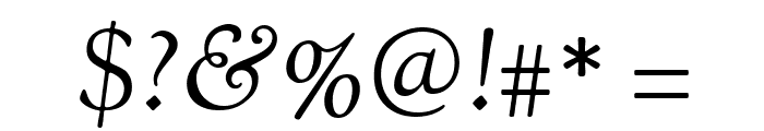 Sorts Mill Goudy Italic Font OTHER CHARS