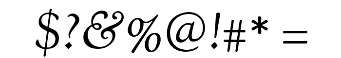 Sorts Mill Goudy TT Italic Font OTHER CHARS