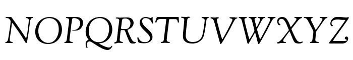 Sorts Mill Goudy TT Italic Font UPPERCASE