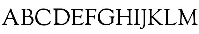 Sorts Mill Goudy Font UPPERCASE