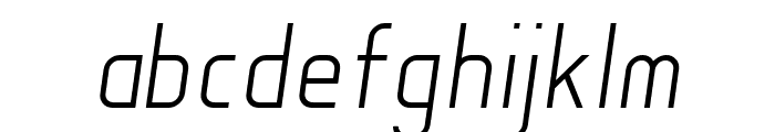 Soul Lotion Light-Italic Font LOWERCASE