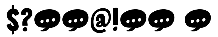 Sound Bubble DEMO Regular Font OTHER CHARS