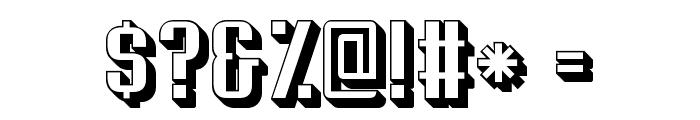 Soupertrouper 3D Font OTHER CHARS