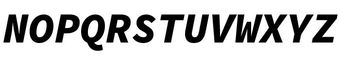 Source Code Pro Black Italic Font UPPERCASE
