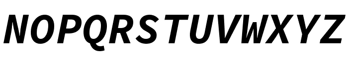 Source Code Pro Bold Italic Font UPPERCASE
