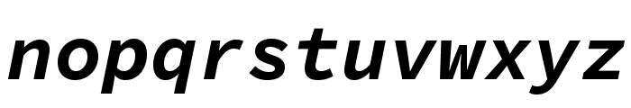 Source Code Pro Bold Italic Font LOWERCASE