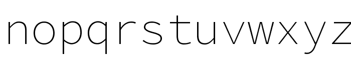 Source Code Pro ExtraLight Font LOWERCASE