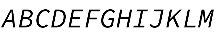 Source Code Pro Italic Font UPPERCASE