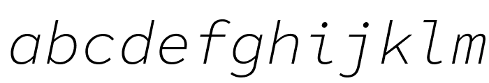 Source Code Pro Light Italic Font LOWERCASE