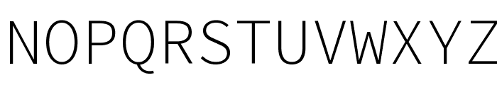 Source Code Pro Light Font UPPERCASE