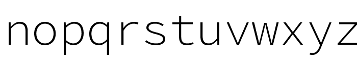 Source Code Pro Light Font LOWERCASE