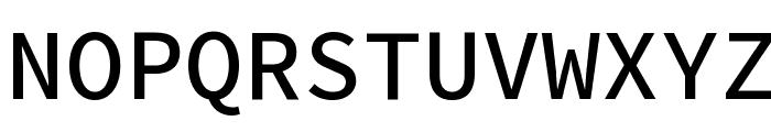 Source Code Pro Medium Font UPPERCASE