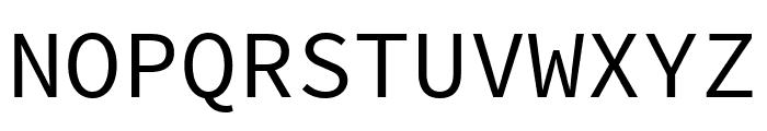 Source Code Pro Regular Font UPPERCASE