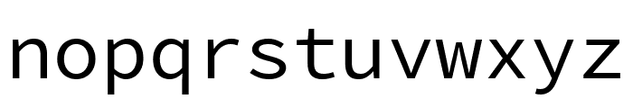 Source Code Pro Regular Font LOWERCASE