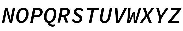 Source Code Pro Semibold Italic Font UPPERCASE