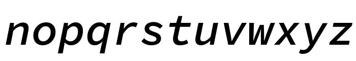 Source Code Pro Semibold Italic Font LOWERCASE