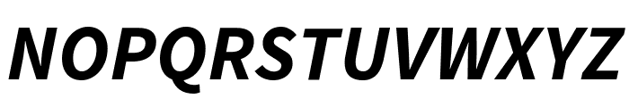 Source Sans Pro Bold Italic Font UPPERCASE