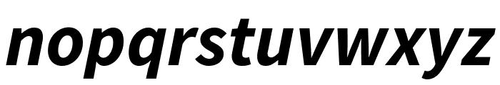 Source Sans Pro Bold Italic Font LOWERCASE