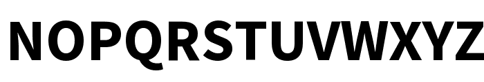 Source Sans Pro Bold Font UPPERCASE