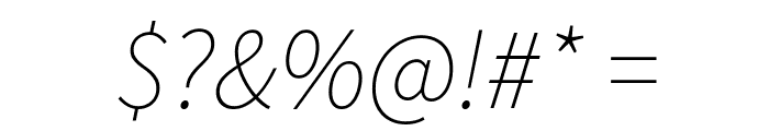 Source Sans Pro ExtraLight Italic Font OTHER CHARS