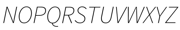 Source Sans Pro ExtraLight Italic Font UPPERCASE