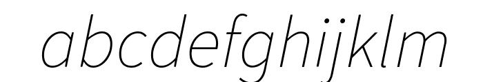 Source Sans Pro ExtraLight Italic Font LOWERCASE