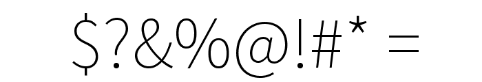 Source Sans Pro ExtraLight Font OTHER CHARS