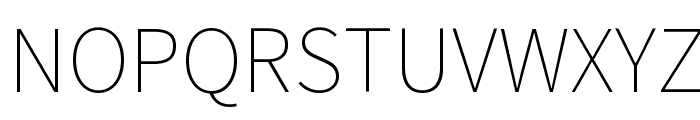 Source Sans Pro ExtraLight Font UPPERCASE