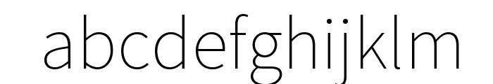 Source Sans Pro ExtraLight Font LOWERCASE