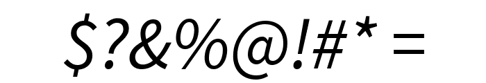 Source Sans Pro Italic Font OTHER CHARS