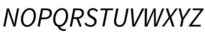 Source Sans Pro Italic Font UPPERCASE