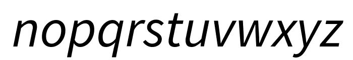 Source Sans Pro Italic Font LOWERCASE