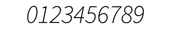 Source Sans Pro Light Italic Font OTHER CHARS