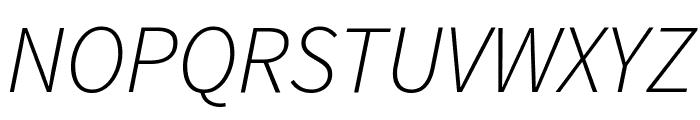 Source Sans Pro Light Italic Font UPPERCASE